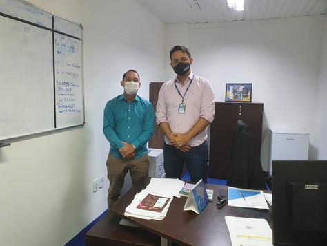 Controlador Interno de Tarauacá visita Tribunal de Contas do Estado do Acre (TCE)
