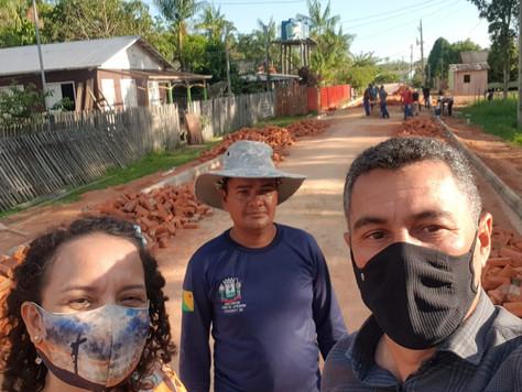 Prefeitura de Tarauacá está finalizando a pavimentação na Vila São Vicente