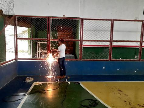 Prefeitura realiza revitalização do Ginásio Rui Net Lima de Matos em Tarauacá