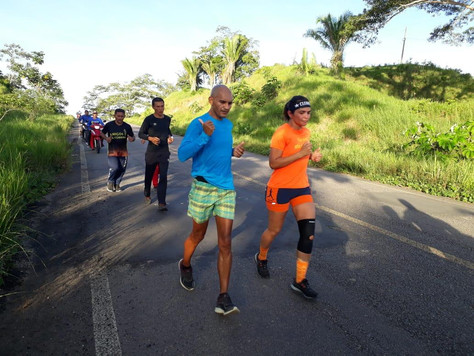 """Grupo """"Amigos da Corrida"""" promove maratona de 42 quilômetros de Feijó a Tarauacá"""