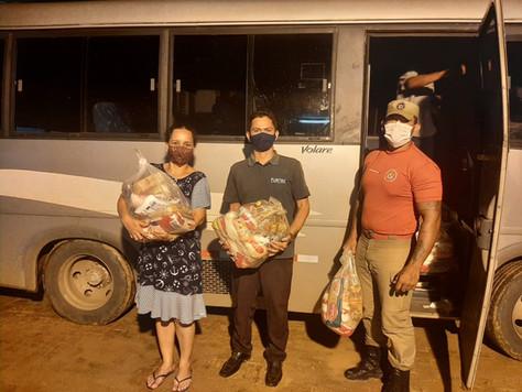 Prefeita de Tarauacá agradece doação de cestas básicas do Arasuper e de café da ECOACRE