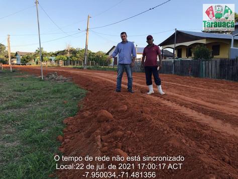 Prefeitura de Tarauacá avança com serviços de terraplanagem na Comunidade São Vicente