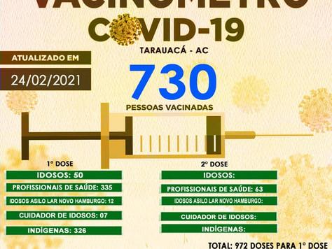 Tarauacá: 730 pessoas já foram vacinadas contra Covid-19 no município