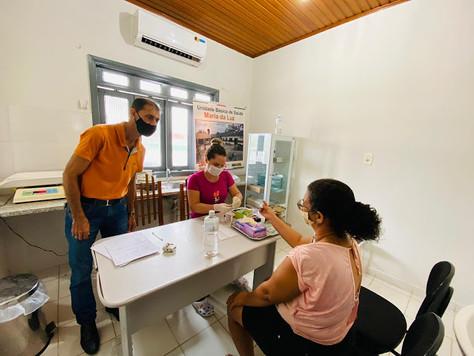 Prefeito em exercício Raimundo Maranguape acompanha atendimento de pacientes com sintomas de dengue
