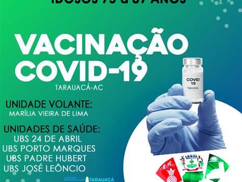 POSTOS DE VACINAÇÃO CONTRA A COVID-19 PARA IDOSOS DE 70 A 89 ANOS