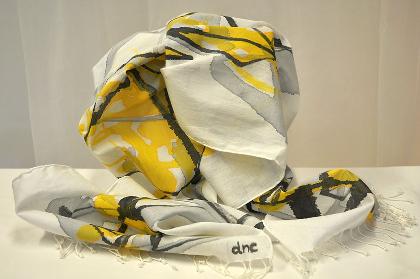 Sunny triangles Cotton scarf