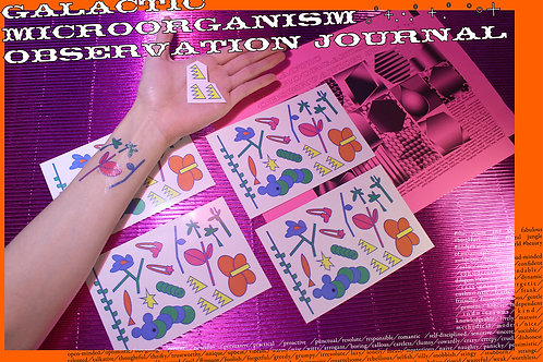 TATTOO PAPER | GALACTIC MICROORGANISM OBSERVATION JOURNAL