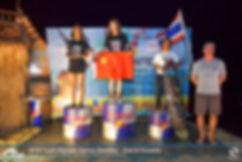 Podium winners for Asian Girls