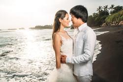 Wedding photosession on the beach