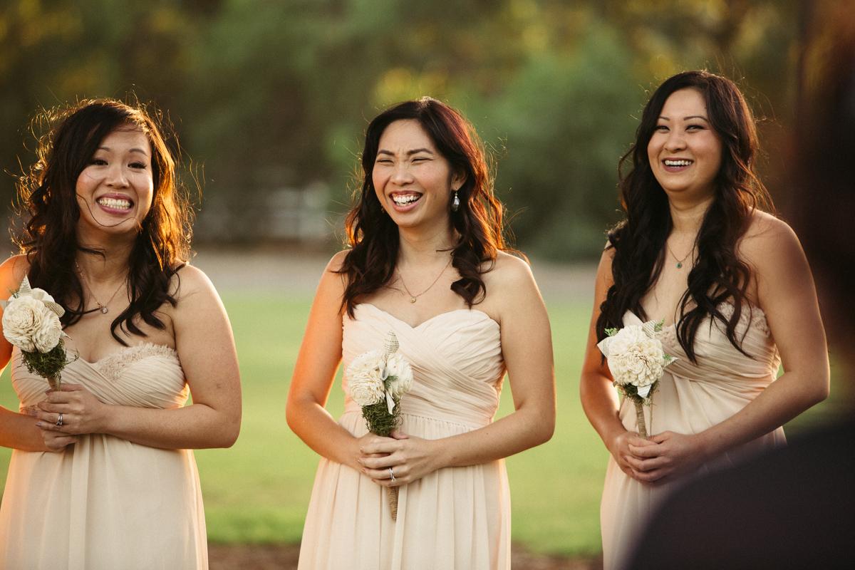 Photo of happy guests. Gay wedding