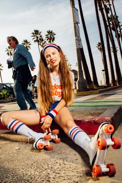 Photoshoot the  girl on roller skate