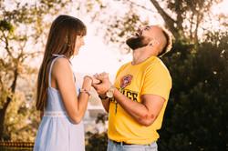 Romantic photo shoot as a guy makes a pr