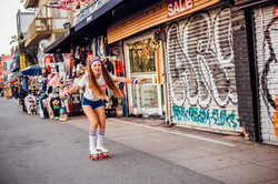 Photoshoot on roller skates Venice