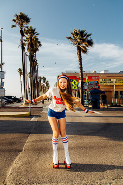 Roller girl. Summer shoot in LA