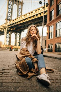 Fashionable photoshoot in New York