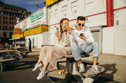 Stylish couple photo session