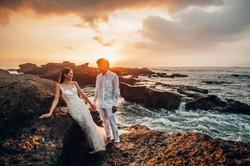Romantic wedding photo session
