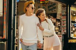 Fashion photoshoot couple