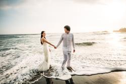 Wedding photoshoot on the beach