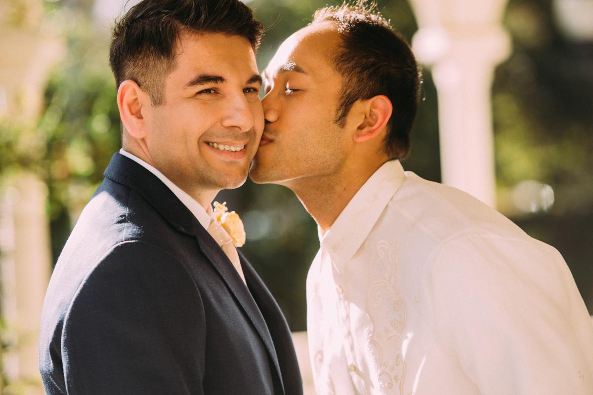 Gay wedding portrait photography