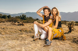 Couple photo session in the desert
