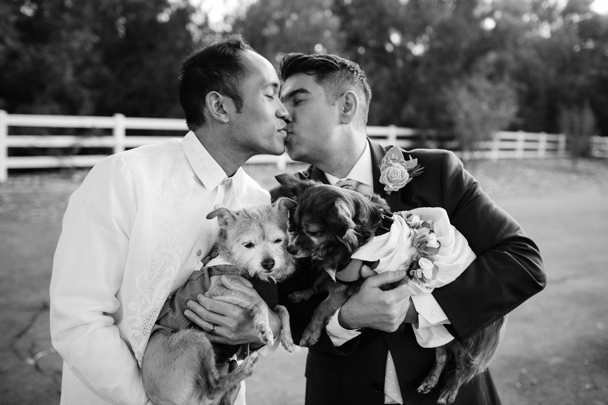 Black and White Gay Wedding Photo