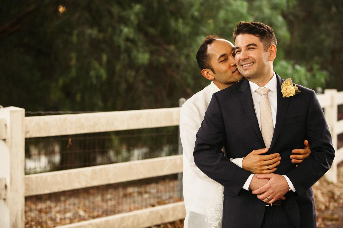 Gay couple photoshoot
