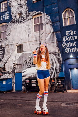 Chewing gum photoshoot in LA