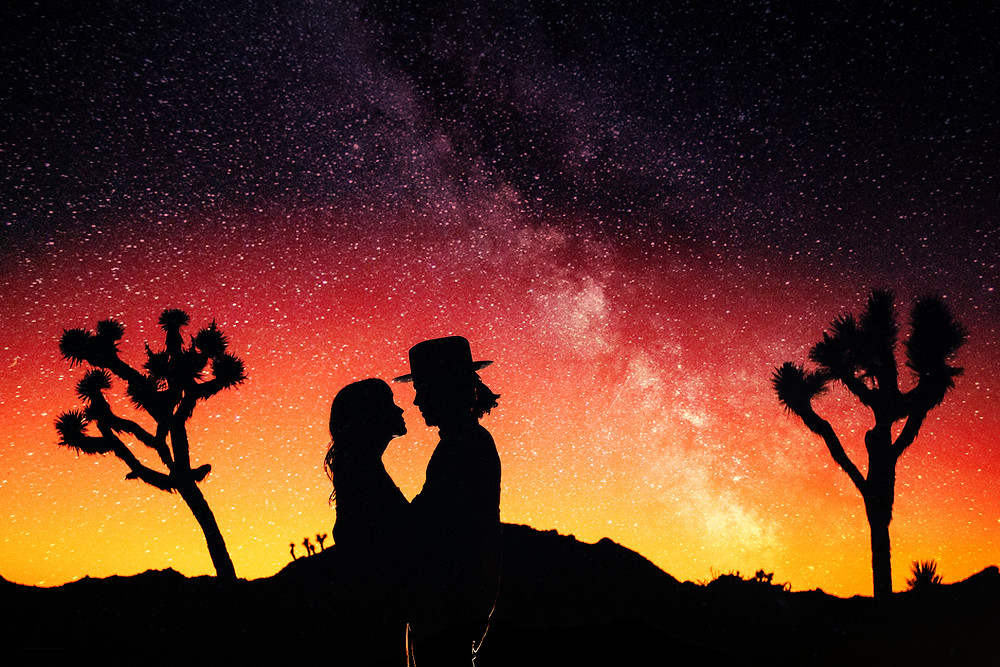 Pre-wedding photoshoot under the stars in the California desert | Alex Shevchik - Engagement and Wedding Photographers in Los Angeles and Orange County