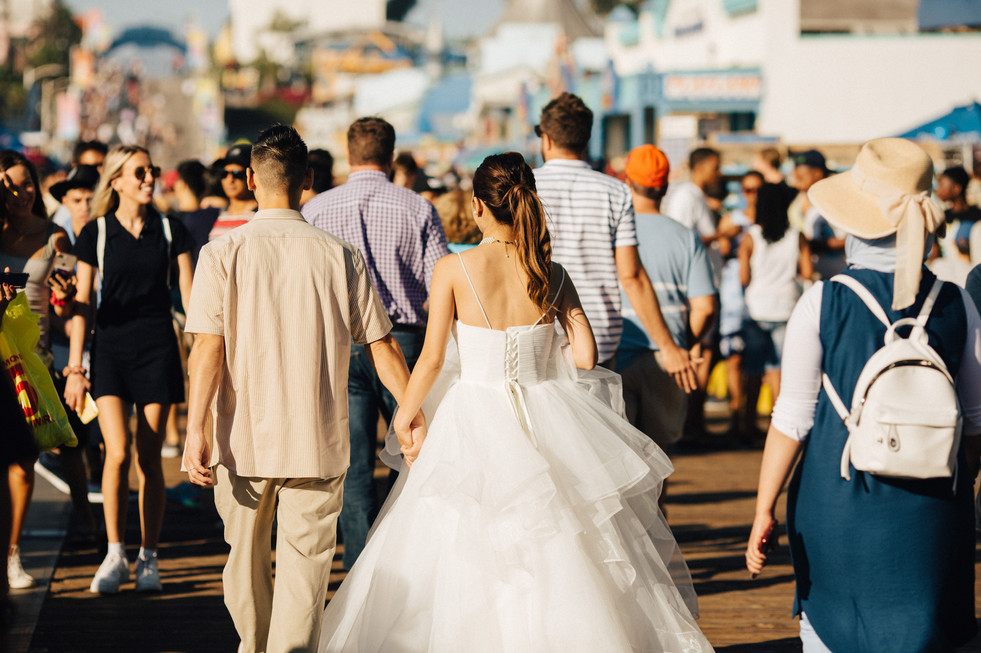 Santa Monica and Venice beach elopement