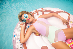 Woman Swimming Pool photoshoot