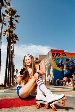 Girl on Venice Beach with Coca-Cola