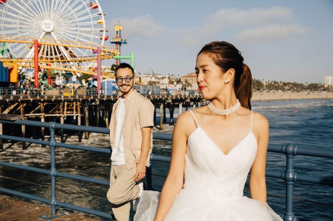 Santa Monica and Venice beach elopement