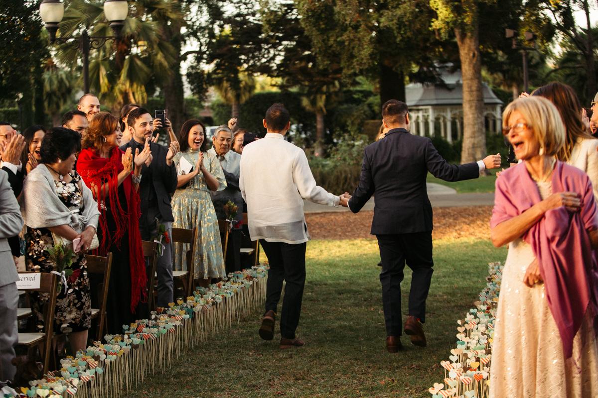Gay wedding ceremony LA