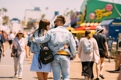 Guy with a girl walk in an embrace _ Eng