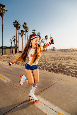 Roller girl photoshoot Los Angeles