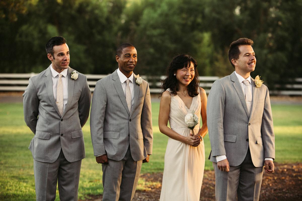 Guests at the gay wedding