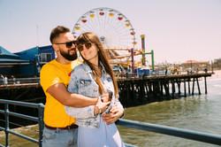 Engagement Photoshoot at the Santa Monic