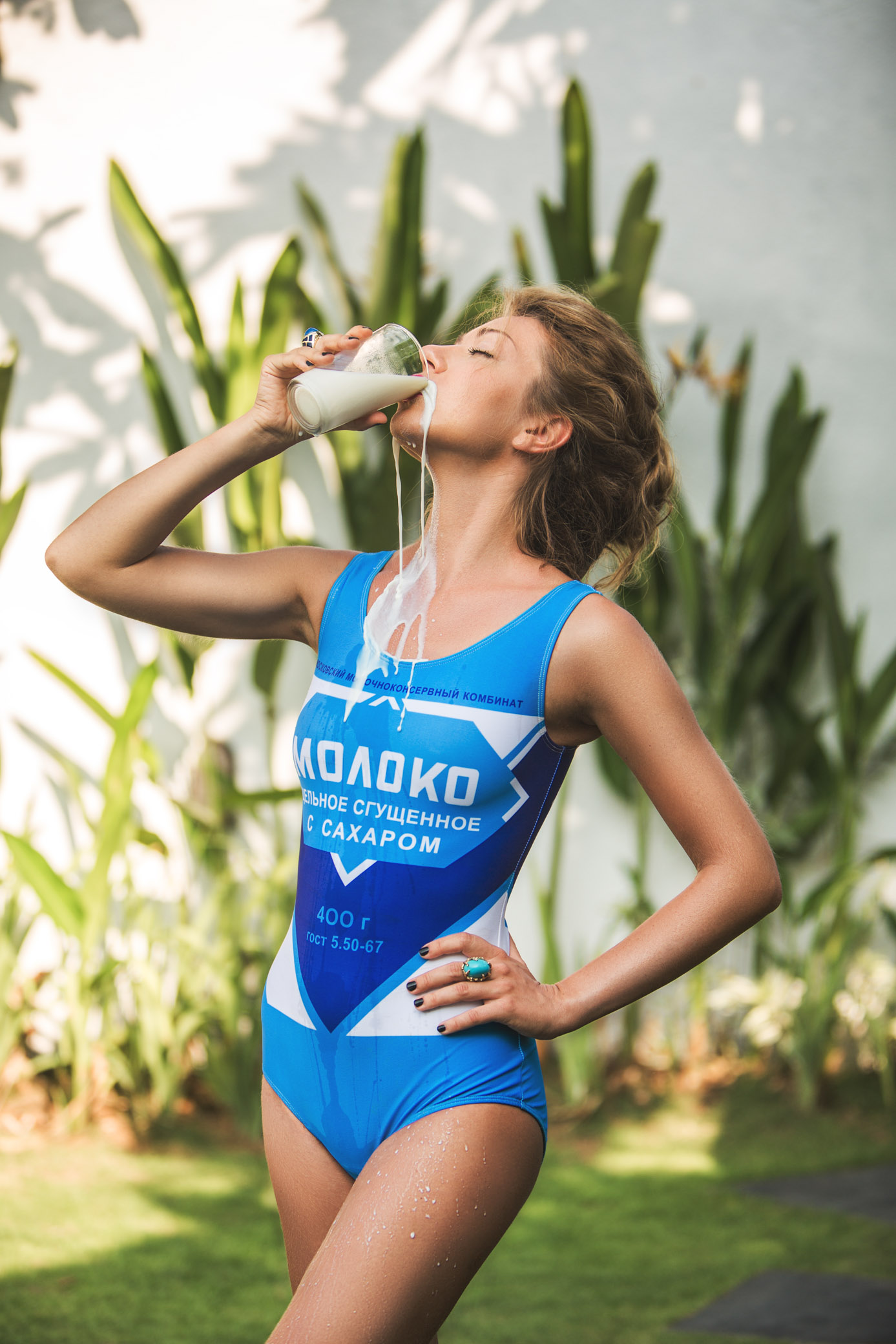 Fashion photo shoot condensed milk