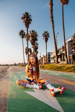 Roller Skater in Venice CA 1980