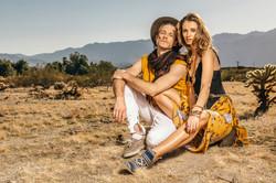 Fashion shoot of a couple