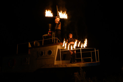 Fire Dancers on Ship