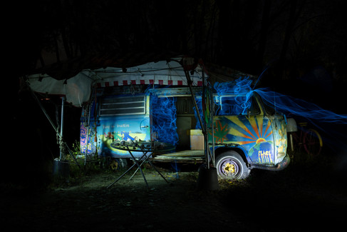 Hippie Van with EL-Wire