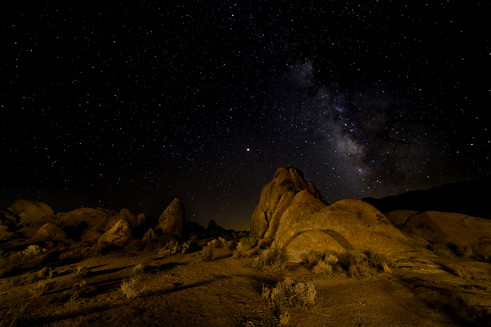 Milky Way at Alabama Hills
