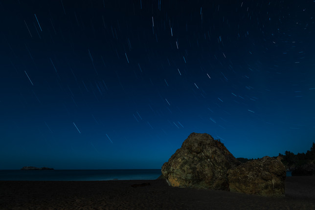 Star Trails over the Pacific