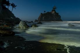 Hidden Beach at Night