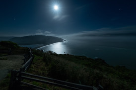 Klamath Overlook under a Full Moon