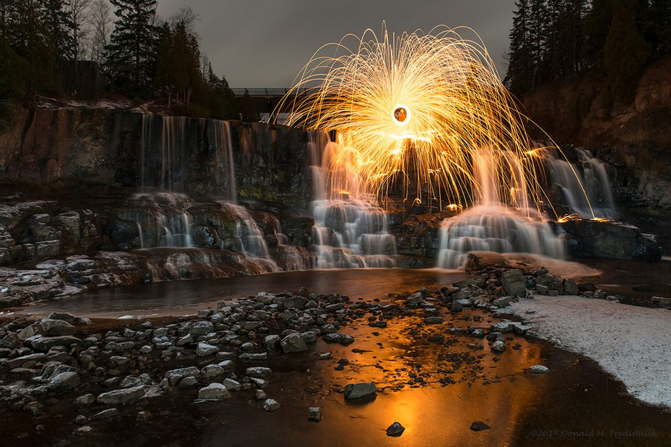 Spinning over the Waterfall