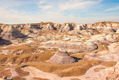 Badlands of the petrified forest