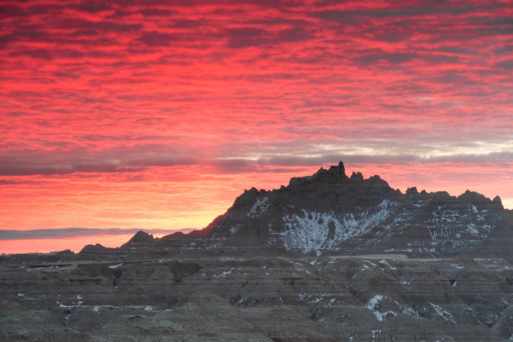 Badlands Castle at Dawn